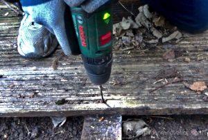 Drilling through decking