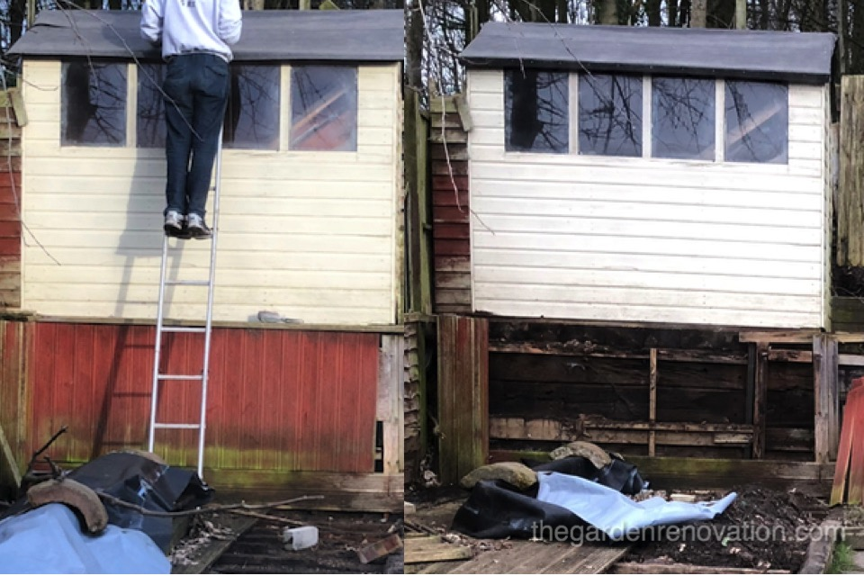 Shed on platform Before After-1